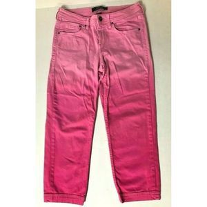 TOMMY BAHAMA 6 Pink Ombre Crop Denim Jeans